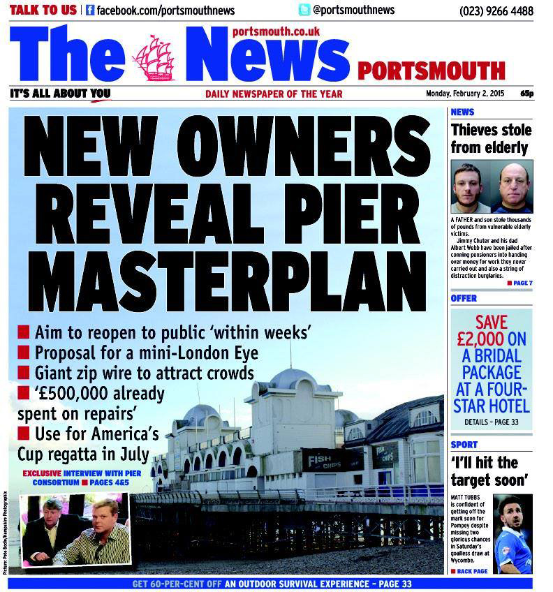 The pier is sold.