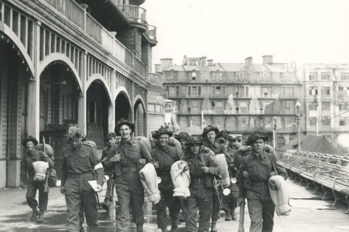 Troops departing from South Parade Pier