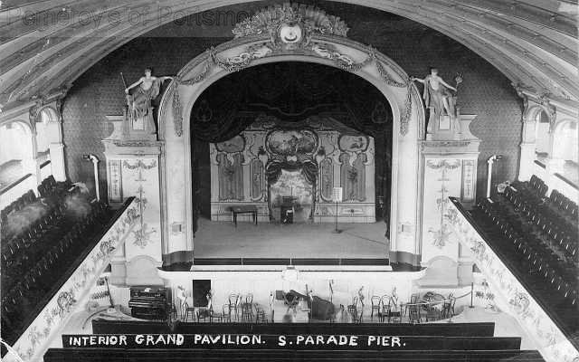 The grand theatre sadly destroyed by fire and removed in 1967.