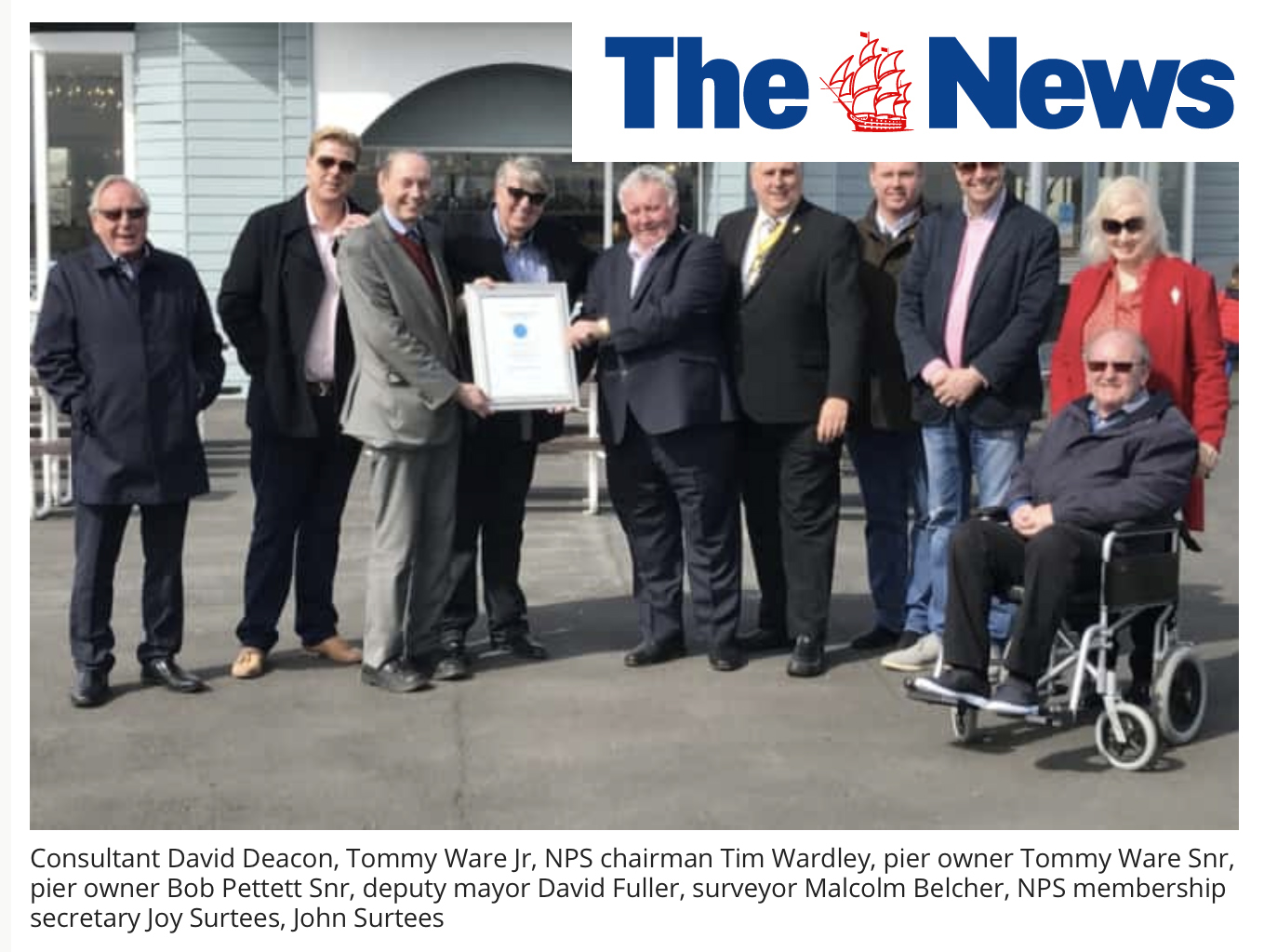 Joy as South Parade Pier bosses presented with Pier of the Year award